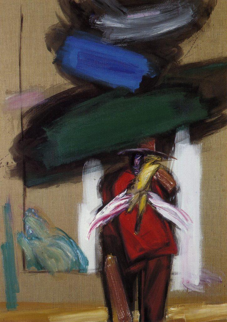 The wandering poet, 1986; 170x120